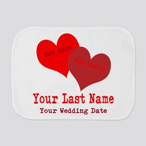 Wedding Hearts Burp Cloth