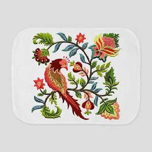 Jacobean Embroidery Burp Cloth