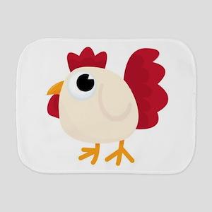 Funny White Chicken Burp Cloth