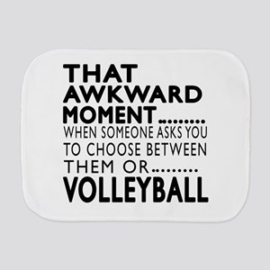 Volleyball Awkward Moment Designs Burp Cloth