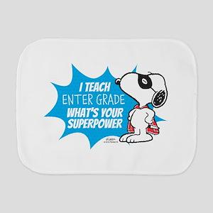 Snoopy Teacher - Personalized Burp Cloth