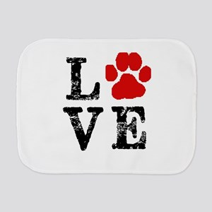 Love with a paw Burp Cloth