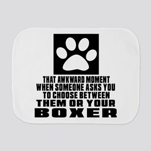 Boxer Awkward Dog Designs Burp Cloth