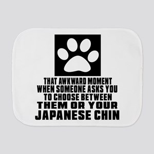 Japanese Chin Awkward Dog Designs Burp Cloth