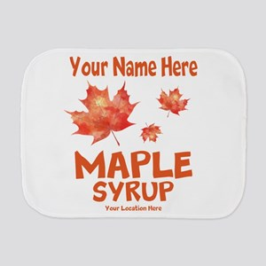 Your Maple Syrup Burp Cloth