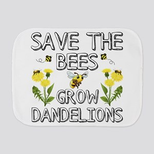 Save The Bees Grow Dandelions Burp Cloth