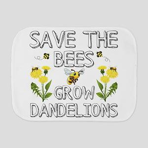 Save The Bees Grow Dandelions Burp Cloth