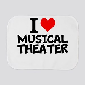 I Love Musical Theater Burp Cloth