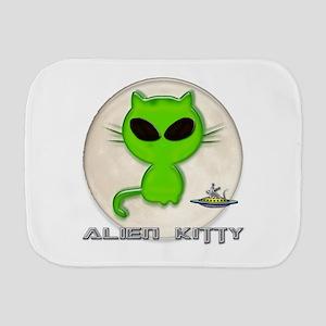 alien kitty Burp Cloth