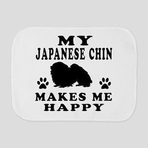 My Japanese Chin makes me happy Burp Cloth