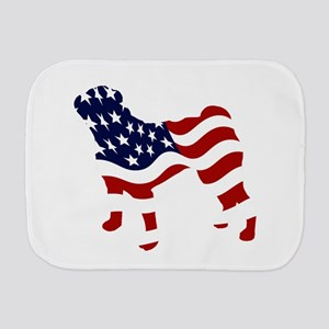 Patriotic Pug - Burp Cloth