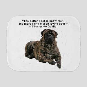 Bullmastiff Brindle-love dogs Burp Cloth