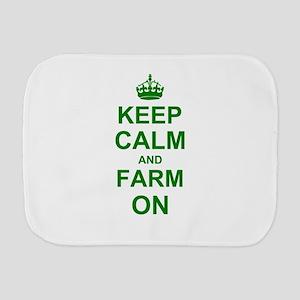 Keep calm and Farm on Burp Cloth