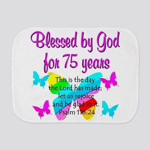 75 YR OLD ANGEL Burp Cloth