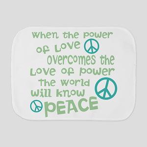 World Peace Burp Cloth