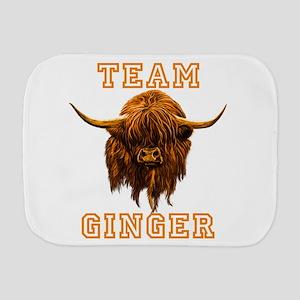 Team Ginger Scottish Highland Cow Burp Cloth
