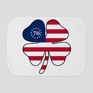 US Flag Clover Burp Cloth