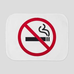 No Smoking Sign Burp Cloth
