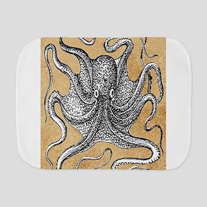 Victorian Octopus on Parchment Burp Cloth