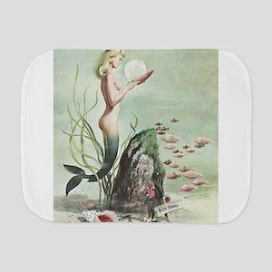 Retro Pin Up 1950s Mermaid with School of Fish Bur