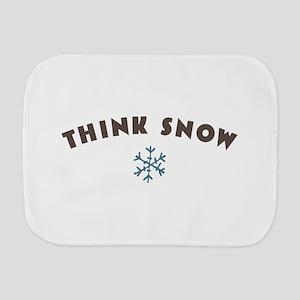 Think Snow Burp Cloth