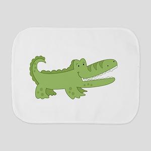 Cutest Green Alligator Burp Cloth
