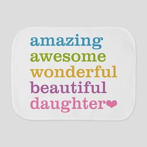 Amazing Daughter Burp Cloth