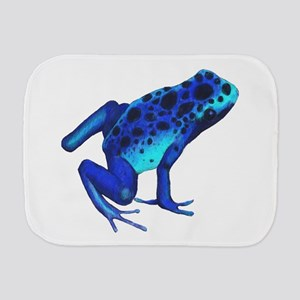Blue Dart Frog Burp Cloth