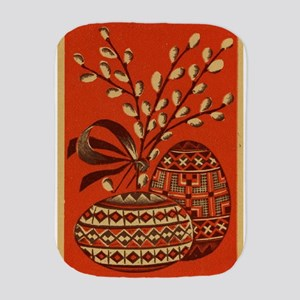 Vintage Russian Easter Card Burp Cloth