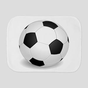 soccer ball large Burp Cloth