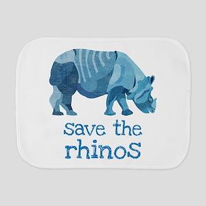 Save the Rhinos Burp Cloth