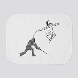 Fencing Match Burp Cloth