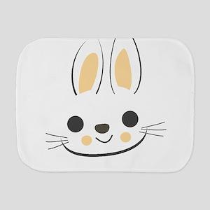 Easter Bunny Face Funny Pascha Holiday Burp Cloth
