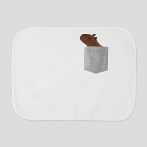 Capybara In Your Pocket Funny Animal Pe Burp Cloth