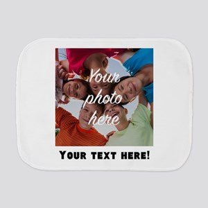 Your Photo And Text Burp Cloth