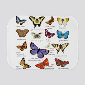 Butterfly Illustrations full colored Burp Cloth