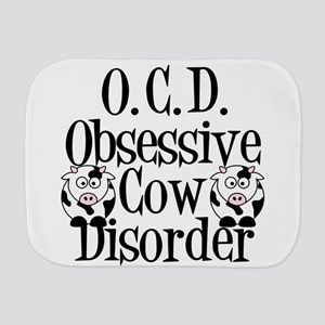 Obsessive Cow Disorder Burp Cloth