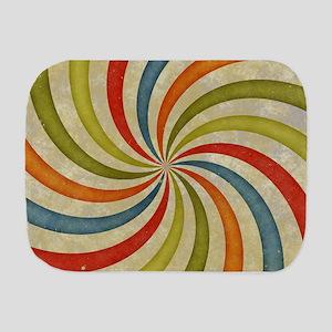 Psychedelic Retro Swirl Burp Cloth