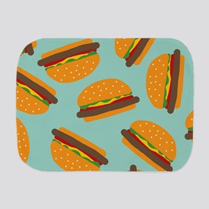 Cute Burger Pattern Burp Cloth