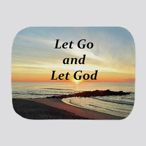 LET GO AND LET GOD Burp Cloth