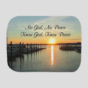 GOD IS PEACE Burp Cloth
