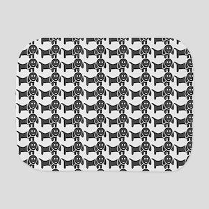 Dachshund Wiener Dog Pattern Burp Cloth