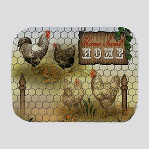 Home Sweet Home Chickens and Roosters Burp Cloth