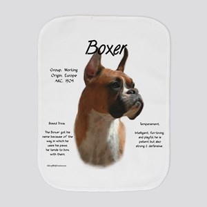 Boxer (fawn) Burp Cloth