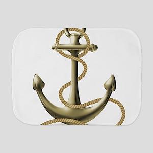 Gold Anchor Burp Cloth