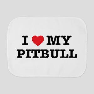 I Heart My Pitbull Burp Cloth