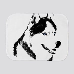 Husky Malamute Sled Dog Art Burp Cloth