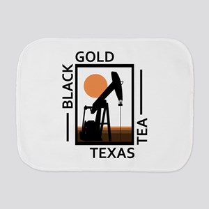 Black Gold Texas Tea Burp Cloth
