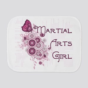 Martial Arts Girl Butterfly Burp Cloth