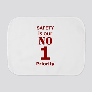 Safety is our No 1 Priority Burp Cloth